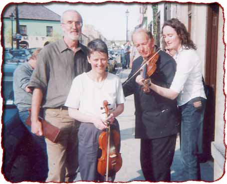 Joe & Mary (O'Halloran) Beirne, Paddy Mills and Julie Langan